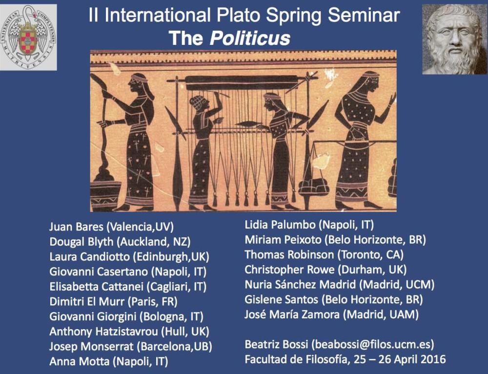 II International Plato Spring Seminar : The Politicus (Madrid)